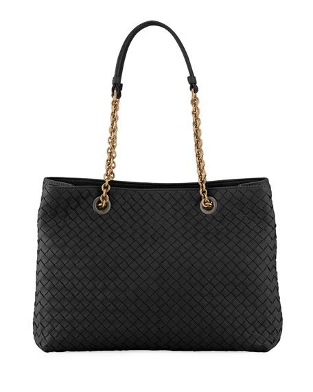 Bottega Veneta Intrecciato Small Double-Chain Tote Bag