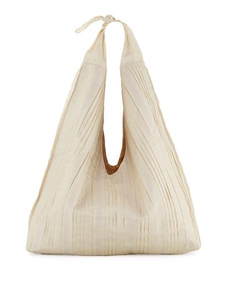Bindle Pleated Silk Mesh Hobo Bag