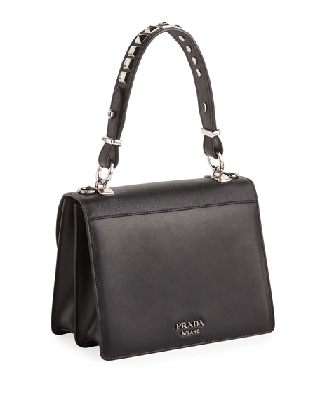 Elektra City Calf Logo Top-Handle Bag