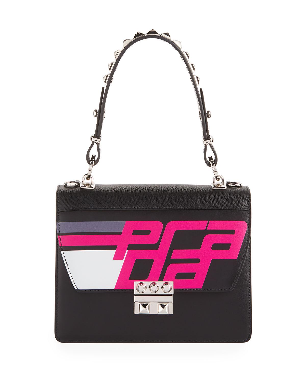 Prada Elektra City Calf Logo Top-Handle Bag  778e267853fb0