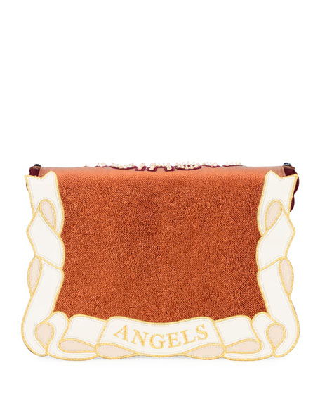 Lucia Fashion Angel Embellished Shoulder Bag
