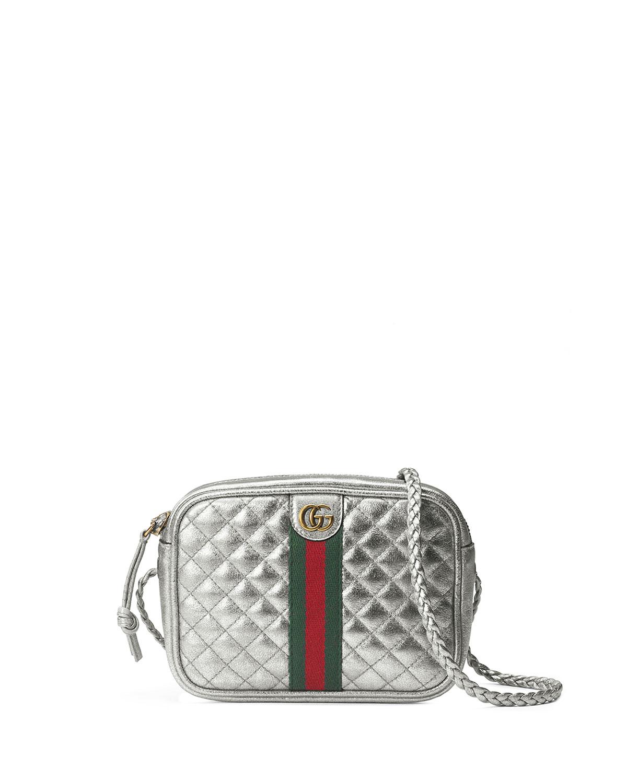 Gucci Trapuntata Metallic Leather Mini Crossbody Bag  f61e1877f2ed7