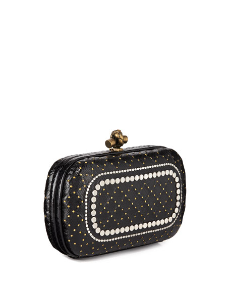 Karung Chain Knot Clutch Bag with Cantena Mirror Embellishment