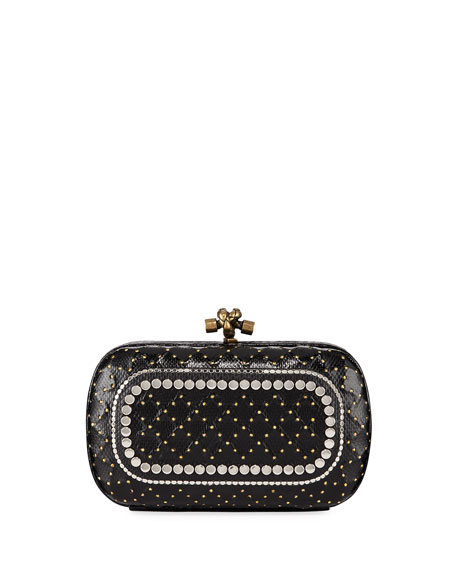 Bottega Veneta Karung Chain Knot Clutch Bag with