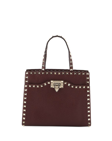 Valentino Garavani Rockstud Small Vitello Leather Tote Bag