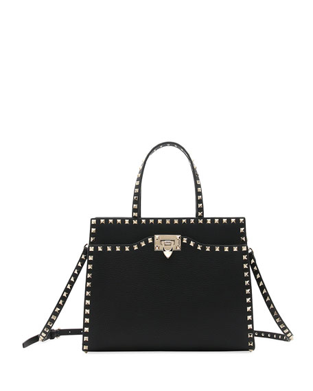 Valentino Garavani Rockstud Medium Vitello Leather Tote Bag