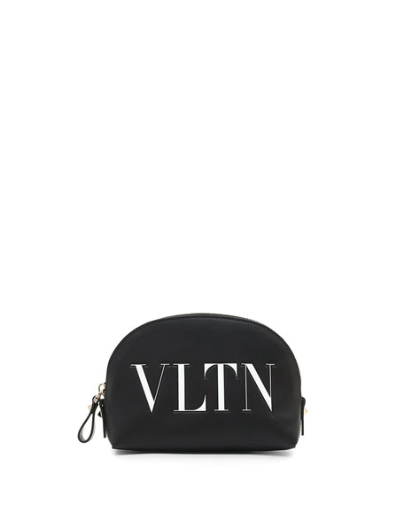 Valentino Garavani VLTN Small Leather Cosmetics Case