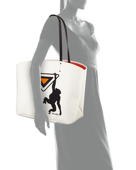 Large Canapa Monkey Soft Tote Bag
