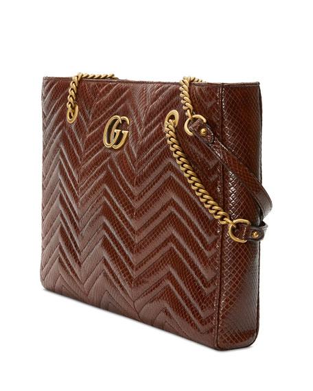 Gucci GG Marmont Chevron Tote Bag