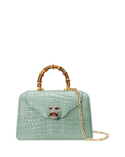 Thiara Crocodile Top Handle Bag