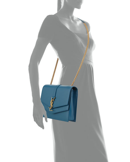 Sulpice Leather Triple V-Flap Crossbody Bag