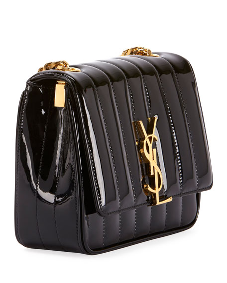 7ba66579e9adc Image 3 of 4  Vicky Monogram YSL Small Quilted Patent Leather Crossbody Bag
