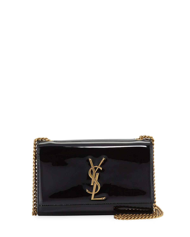 Saint Laurent Kate Monogram YSL Small Patent Leather Crossbody Bag ... d657639d4ad42