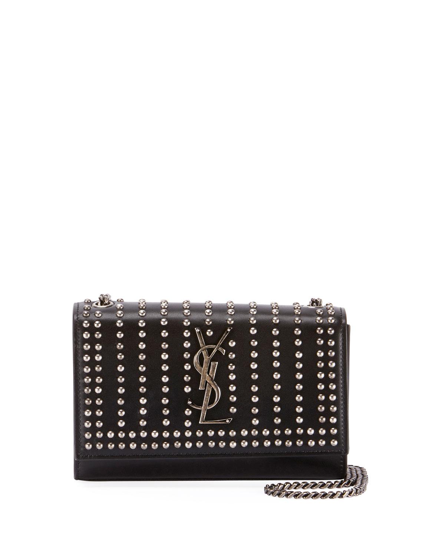 989e893add Saint LaurentKate Monogram YSL Small Studded Leather Chain Crossbody Bag