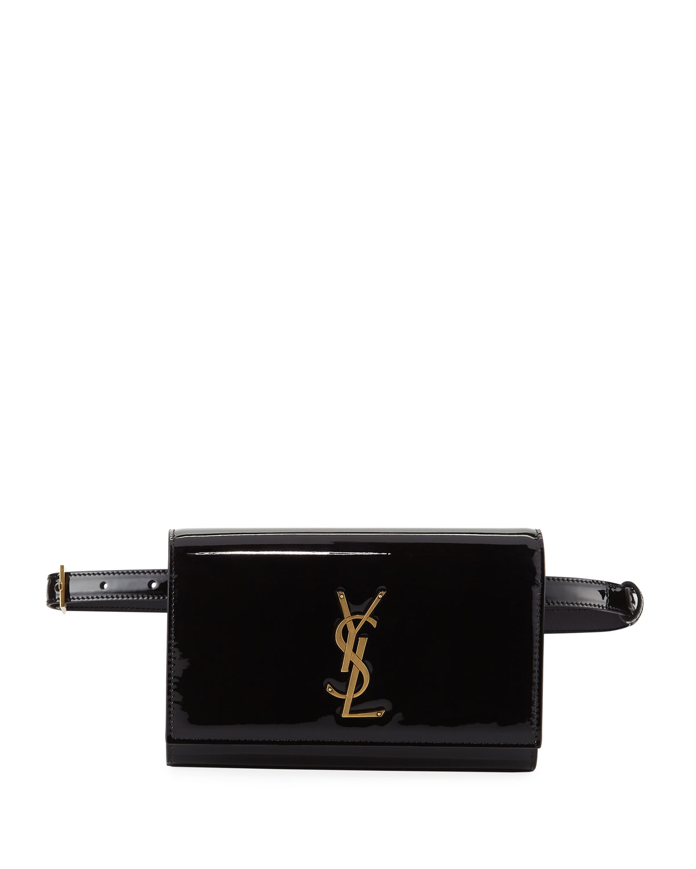 Saint Laurent Kate Monogram Ysl Patent Leather Belt Bag