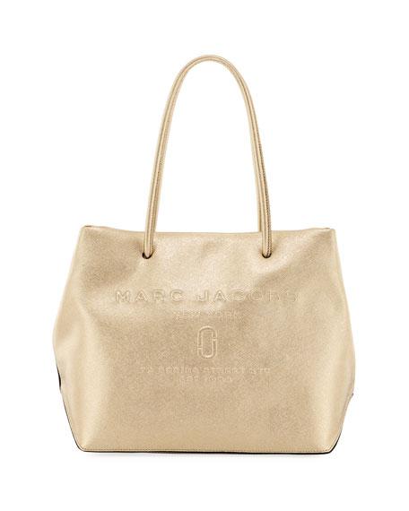 Metallic Logo Shopper Tote Bag