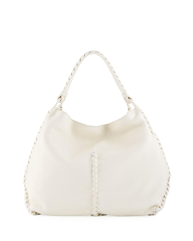e4cb23fb4322 Bottega Veneta Medium Deerskin Leather Hobo Bag