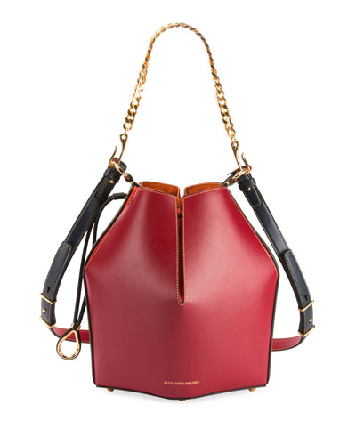 The Bucket Colorblock Shiny Calf Bucket Bag
