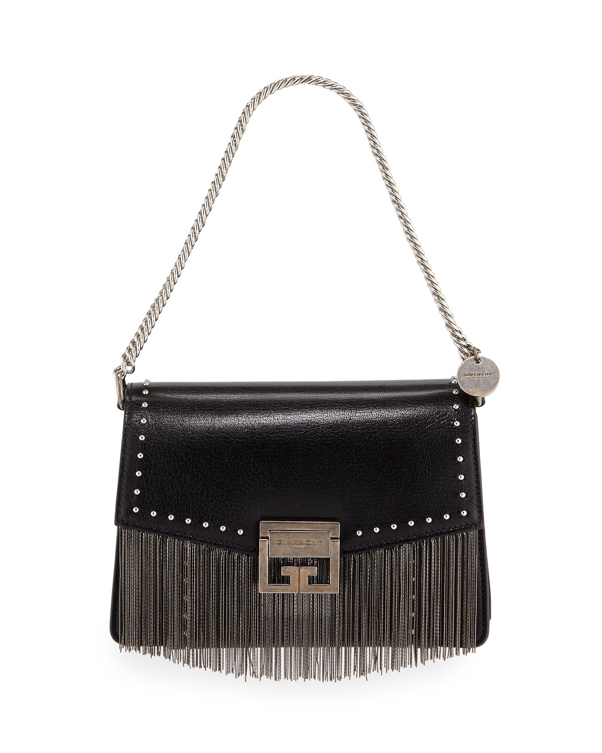90f5de107f47 Givenchy GV3 Small Fringed Leather Crossbody Bag