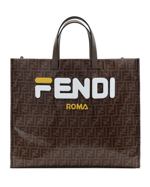 5313c458efc807 Fendi Runway Collection Large Calf and Canvas Tote Bag