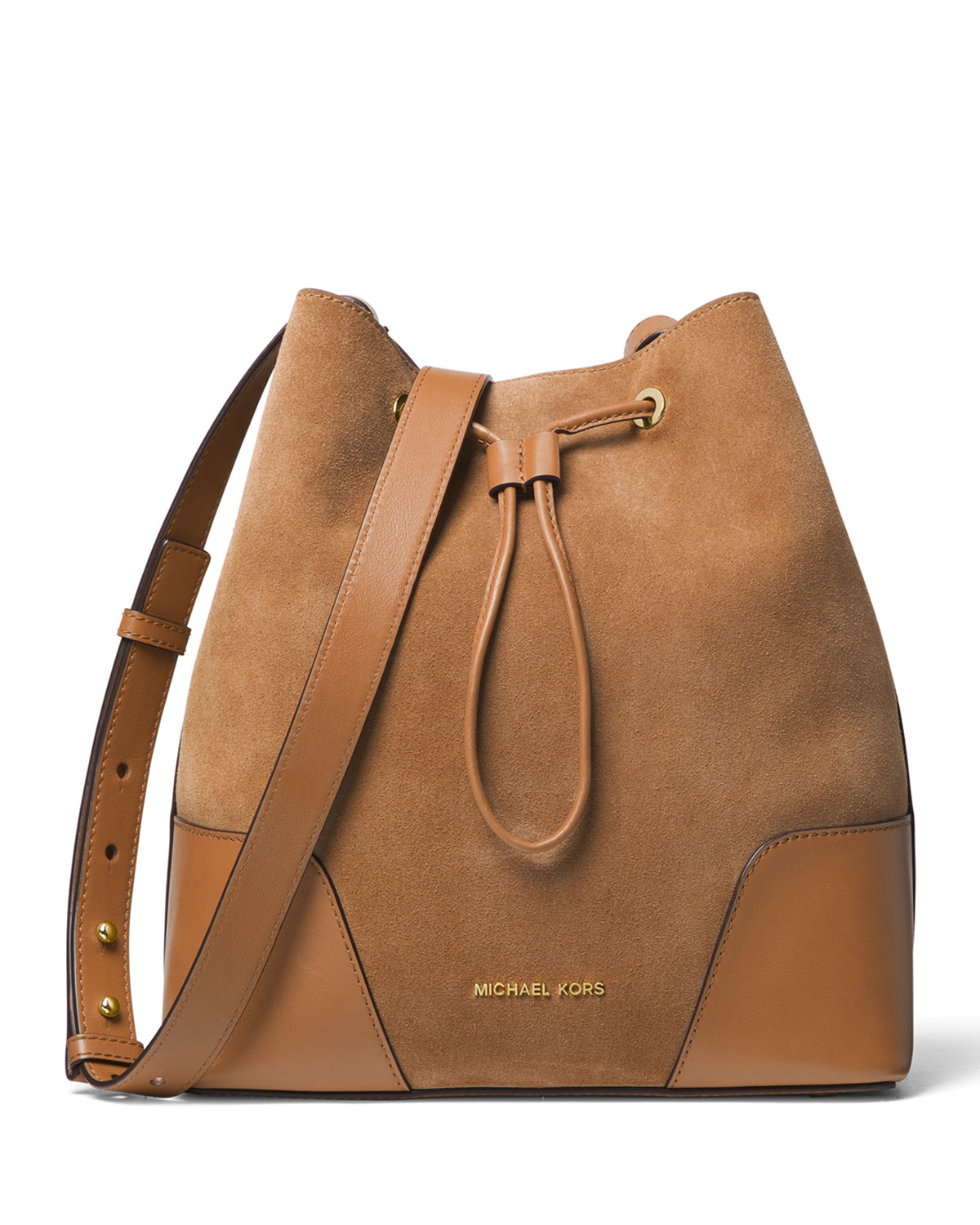 MICHAEL Michael Kors Cary Medium Suede Leather Bucket Bag  f47d4d529bb1a