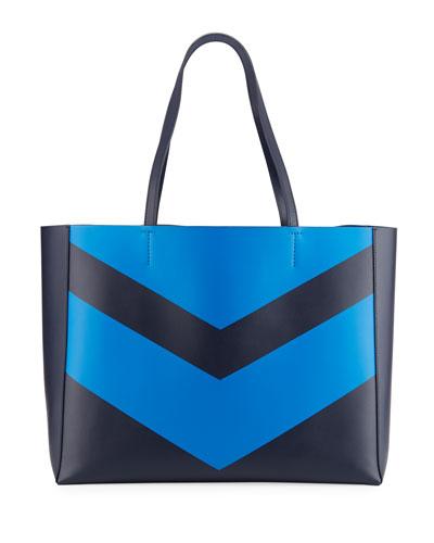 Chevron East-West Tote Bag
