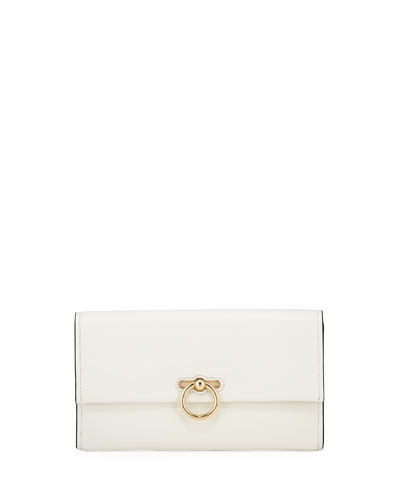 Jean Leather Clutch Bag - Golden Hardware