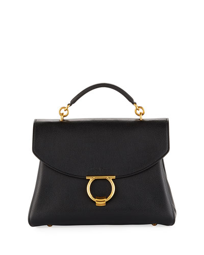 Margot Medium Top Handle Bag  Nero