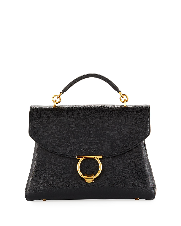 01c003110681 Salvatore Ferragamo Margot Medium Top Handle Bag