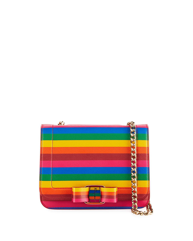 Salvatore Ferragamo Vara Rainbow Crossbody Bag  bb947b3945fa2