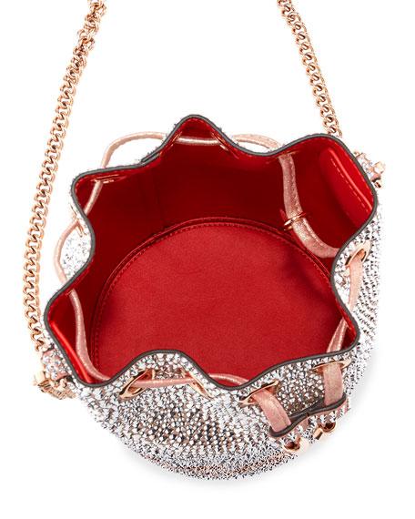 Christian Louboutin Marie Jane Crystal-Beaded Suede Bucket Bag