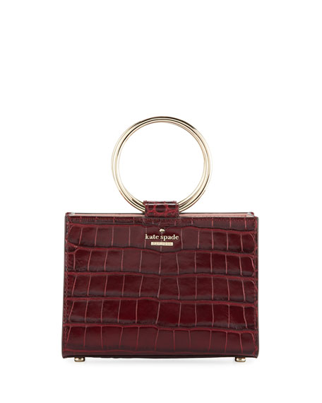White Rock Road - Mini Luxe Sam Leather Satchel - Red, Red Metallic