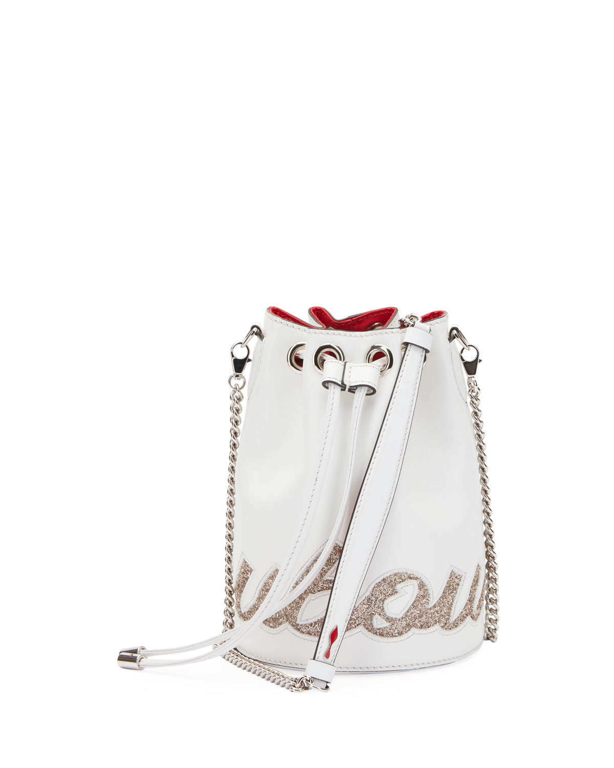 8a860e29a761 Christian Louboutin Marie Jane Paris Glitter Calf Bucket Bag ...
