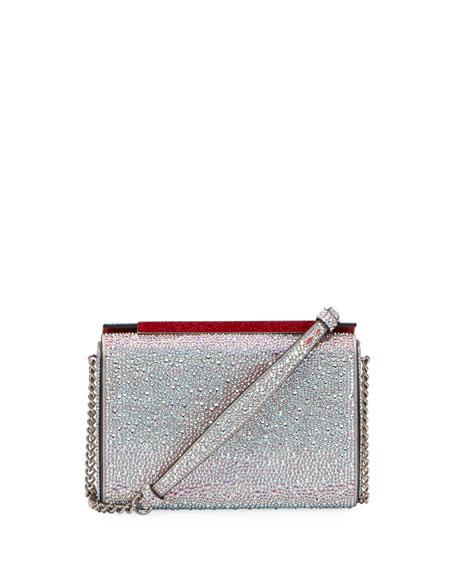 Christian Louboutin Vanite Large Crystal Suede Clutch Bag