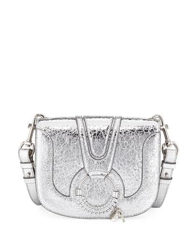 Hana Medium Metallic Shoulder Bag