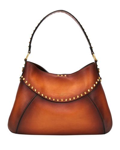Twinkle Studded Medium Hobo Bag