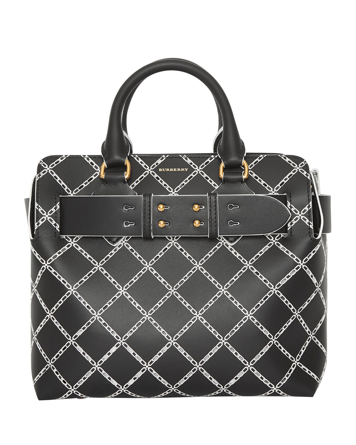 2c201ba5cc6c Burberry Small Belted Perforated Satchel Bag