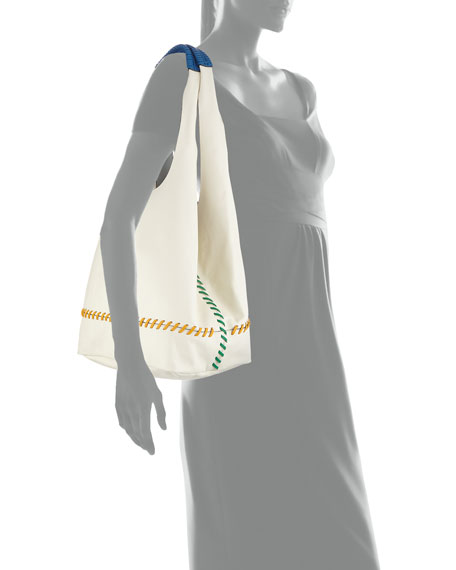 RAG & BONE Leathers Camden Stitched Shopper Tote Bag
