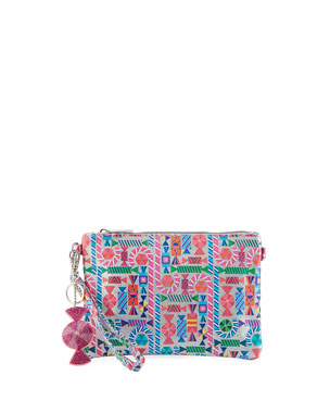 4ef45d9e9df8 Bari Lynn Girls  Shimmer Candy-Print Clutch Bag w  Crystal Candy Key Chains