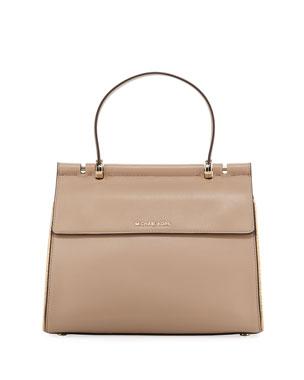 1da56d0c96d MICHAEL Michael Kors Jasmine Medium Leather Satchel Bag