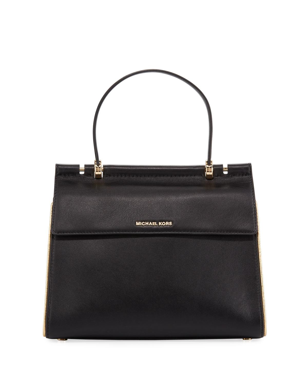 8870aaa63a4b7 MICHAEL Michael KorsJasmine Medium Leather Satchel Bag - Golden Hardware