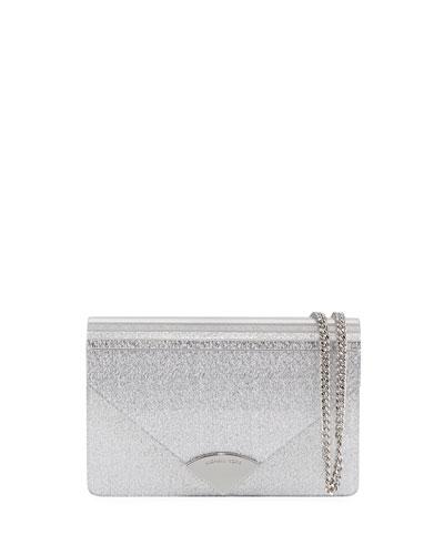 Barbara Medium Envelope Clutch Bag - Silver Hardware