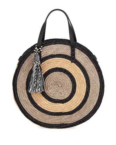 Straw Circle Tote Bag