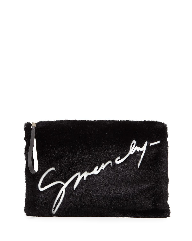 2a7d270e50 Givenchy Emblem Large Pouch Clutch Bag
