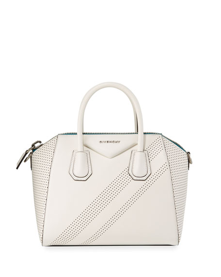 Givenchy Antigona Small Perforated Leather Satchel Bag