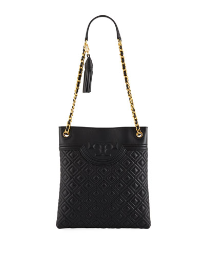 b5be502d9141 Tory Burch Fleming Diamond-Quilted Swing-Pack Tote Bag - Brass Hardware