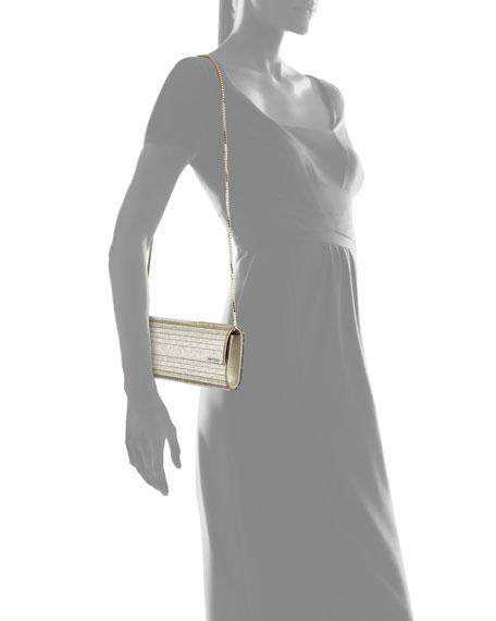 Jimmy Choo Sweetie Glitter Acrylic Clutch Bag