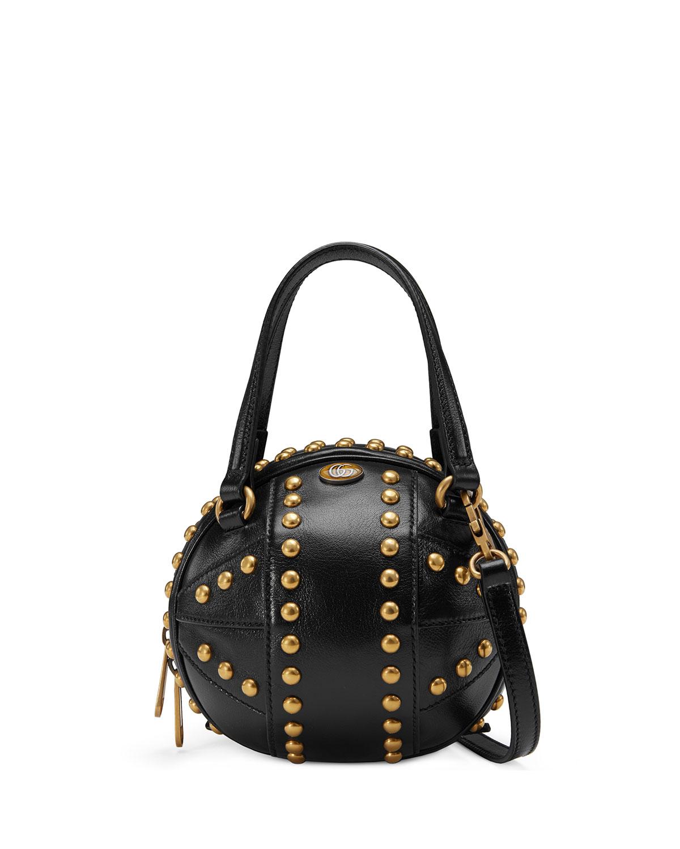 18505901262 Gucci Tifosa Mini Studded Sphere Shoulder Bag