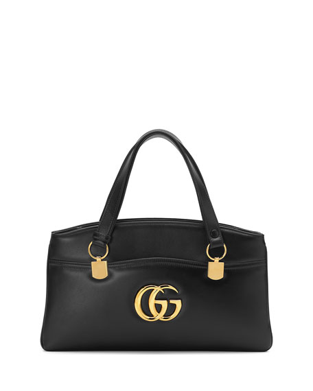 Gucci Arli Large Leather 2-Compartment Top Handle Tote