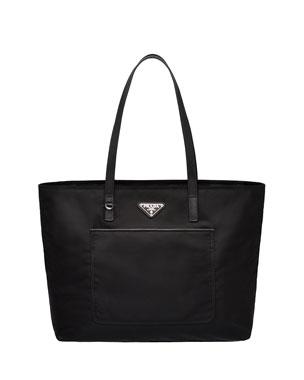ad9d2736d031 ... cheapest prada vela nylon shoulder tote bag with front pocket a04fa  15613